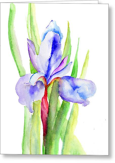 Iris Flowers Greeting Card