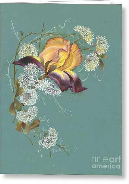 Iris Garland Greeting Card