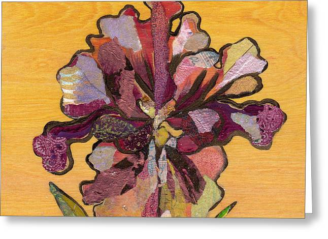 Iris I Series II Greeting Card by Shadia Derbyshire