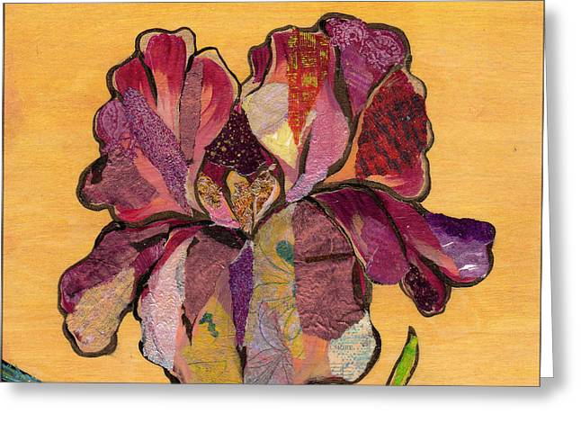 Iris Iv - Series II Greeting Card by Shadia Derbyshire