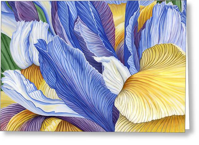 Greeting Card featuring the painting Iris by Jane Girardot