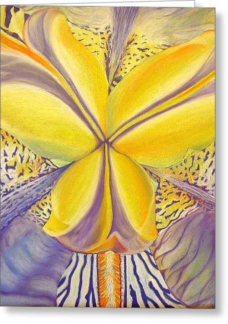Greeting Card featuring the drawing Iris by Joshua Morton