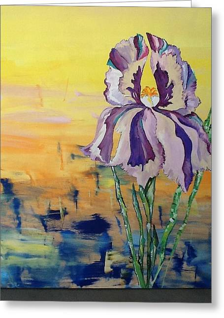 Iris Greeting Card by Karen Carnow