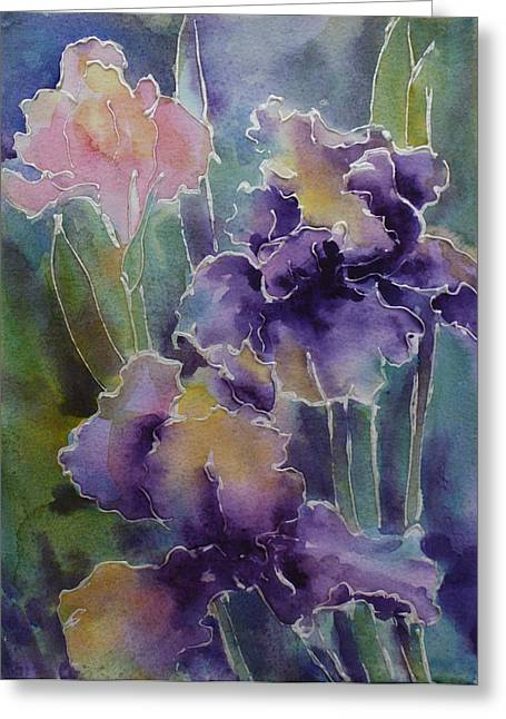 Iris Love Greeting Card
