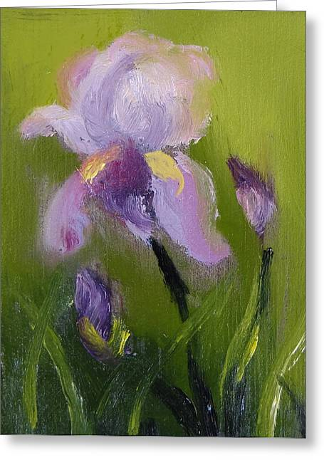 Iris Miniature Greeting Card by Carol Berning