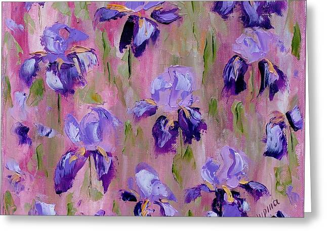 Iris Pattern Greeting Card