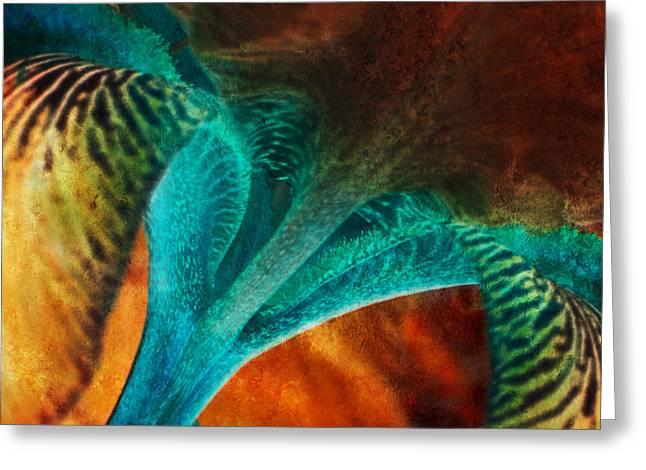 Iris Sonata 2 Greeting Card by Bonnie Bruno