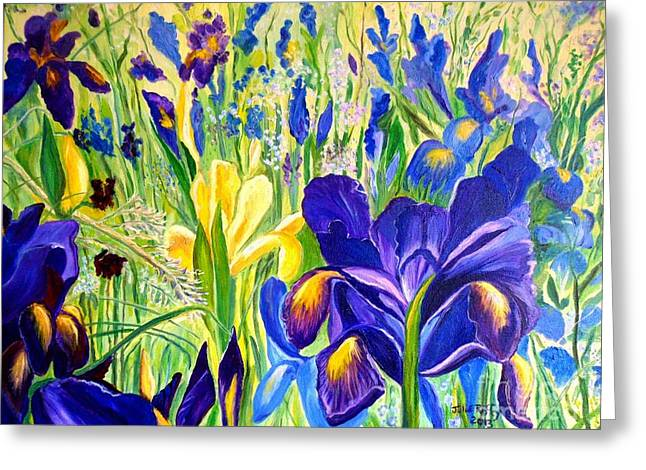 Iris Spring Greeting Card