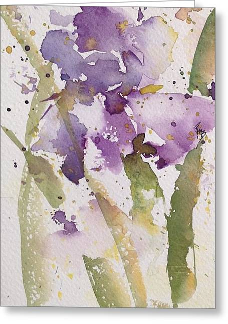 Iris Study #3 Greeting Card by Robin Miller-Bookhout