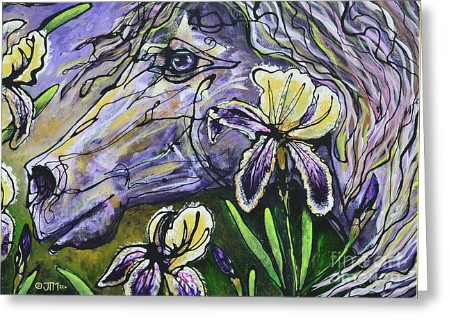 Iris Upon A Star Greeting Card by Jonelle T McCoy