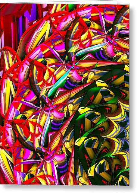 Iris Wheel Greeting Card by Phill Clarkson