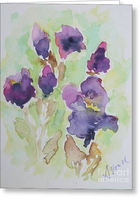 Irises Greeting Card by Alfred Motzer