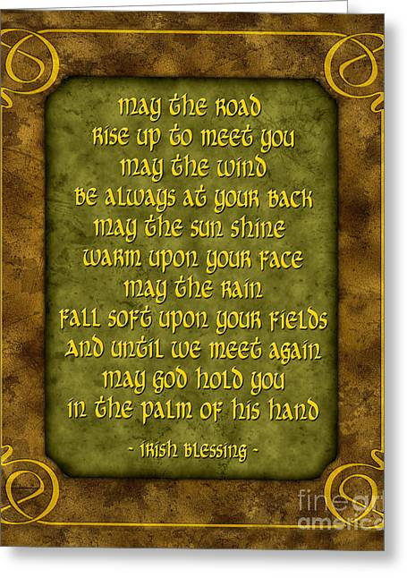 Irish Blessing Greeting Card by Ginny Gaura