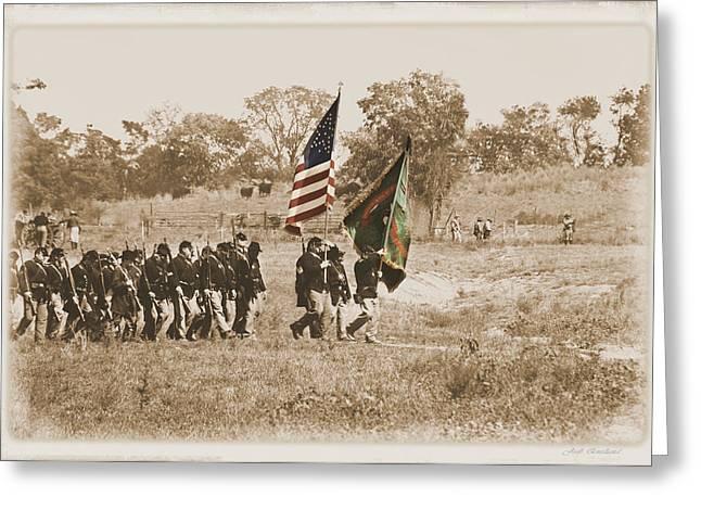 Greeting Card featuring the photograph Irish Brigade by Judi Quelland