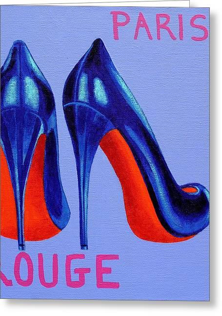 Irish Burlesque Shoes Greeting Card by John  Nolan