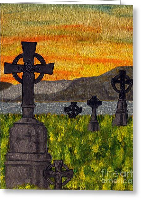Irish Cemetery-painting Greeting Card