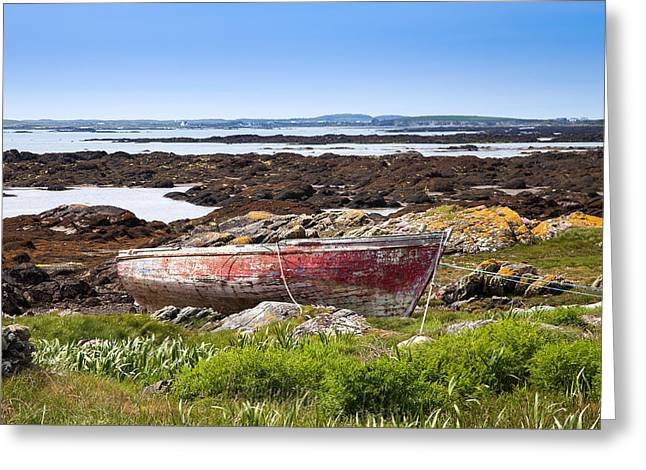 Greeting Card featuring the photograph Irish Coast Impression by Juergen Klust
