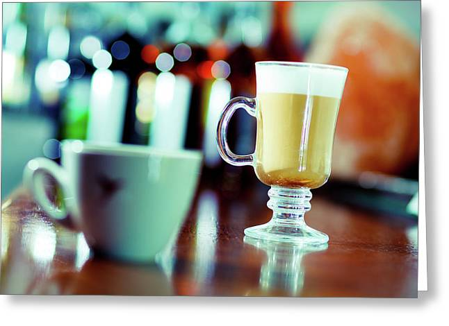 Irish Coffee And Teacup Greeting Card