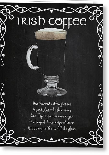 Irish Coffee Greeting Card by Mark Rogan