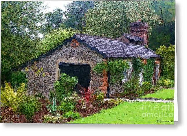 Greeting Card featuring the photograph Irish Cottage by Beauty For God