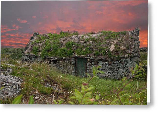 Irish Cottage Greeting Card by Rob Hemphill