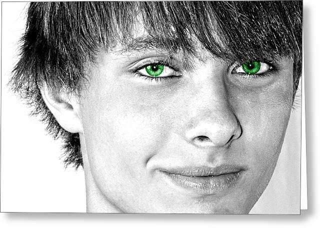 Irish Eyes Greeting Card by Michael Taggart