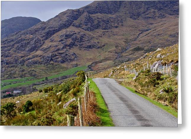 Irish Road Greeting Card by Suzanne Oesterling