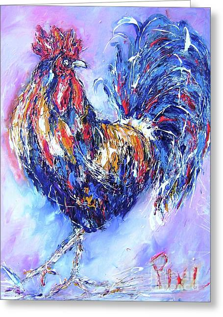 rooster...I dont give a cluck Greeting Card