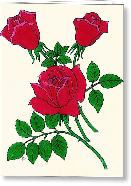 Irish Rose Greeting Card