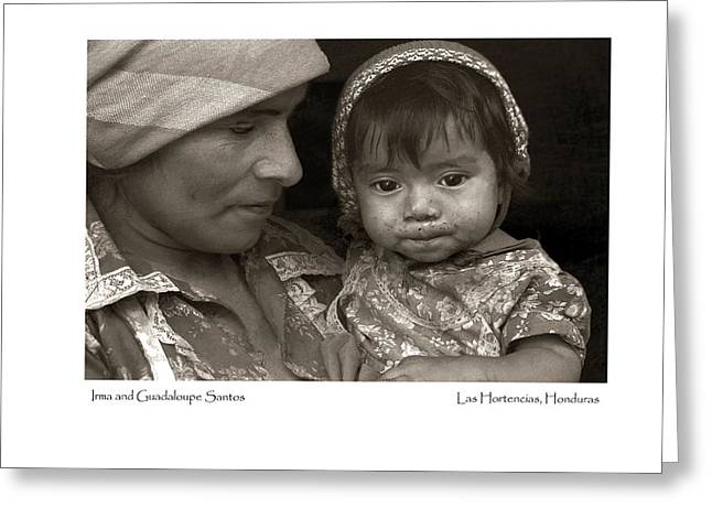 Greeting Card featuring the photograph Irma And Guadaloupe Santos by Tina Manley
