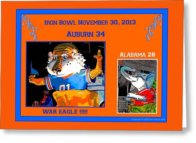 Iron Bowl 2013 Greeting Card by Marian Bell