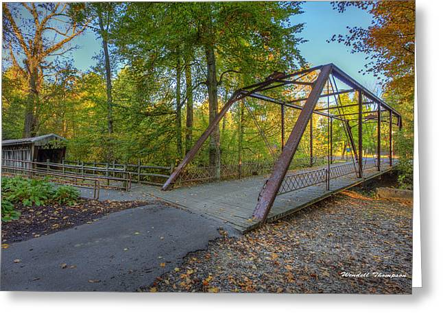 Iron Bridge At Yellow Creek Greeting Card
