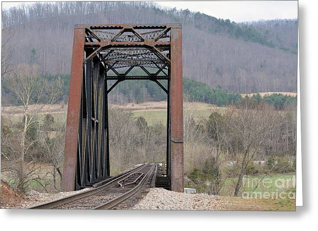 Iron Bridge Greeting Card by Brenda Dorman