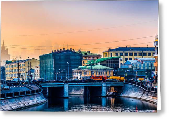 Iron Bridge Panorama Greeting Card by Alexander Senin