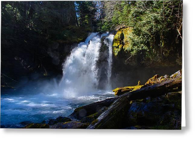 Iron Creek Falls Greeting Card by Tikvah's Hope