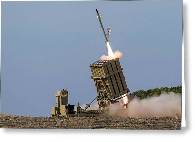 Iron Dome Greeting Card by Photostock-israel