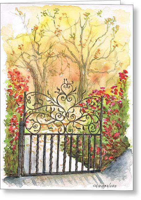 Iron Door In West Hollywood - California Greeting Card