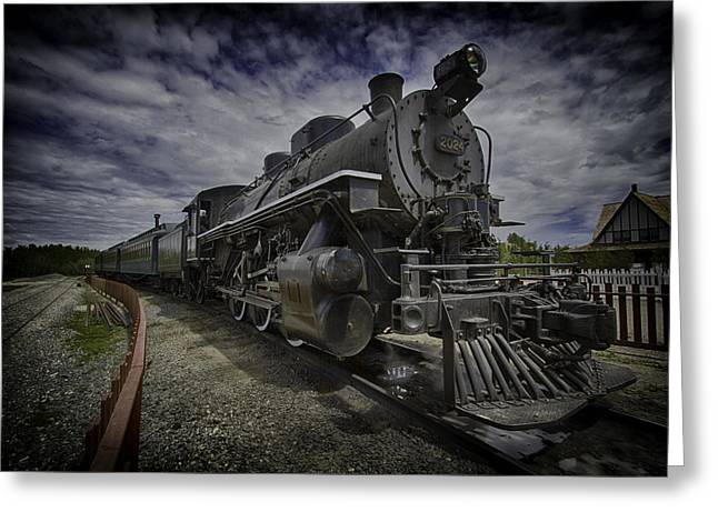 Greeting Card featuring the photograph Iron Horse by Russell Styles