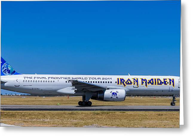 Iron Maiden 757 Greeting Card by Les Lovett