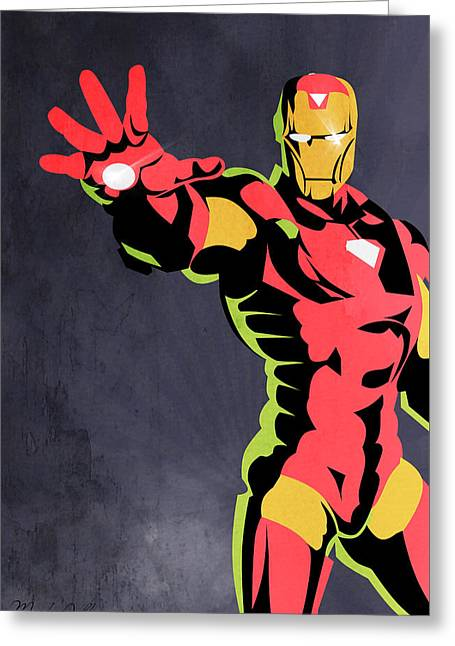 Iron Man  Greeting Card by Mark Ashkenazi
