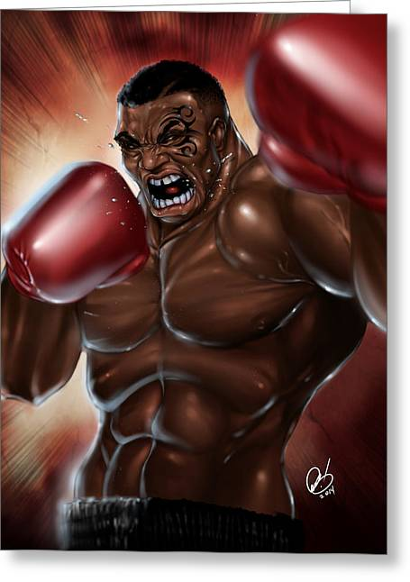 Iron Mike Greeting Card by Pete Tapang