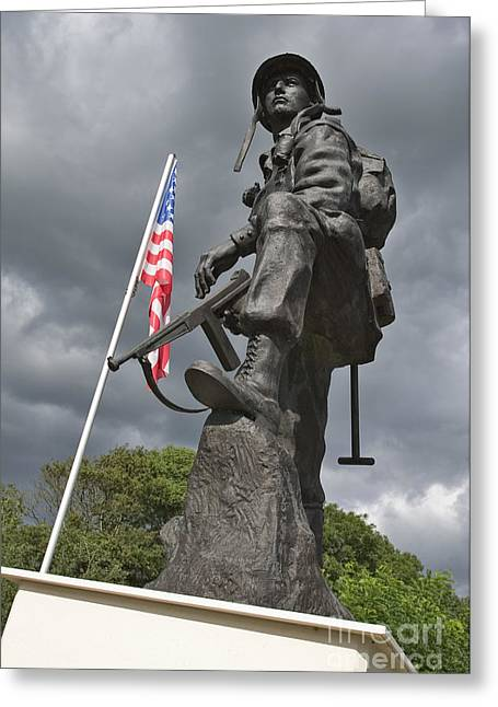 Iron Mike Us Airborne Forces Memorial St Mere Eglise Normandy France Europe Greeting Card