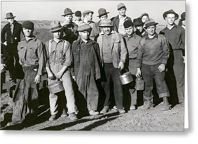 Iron Mine Workers Greeting Card