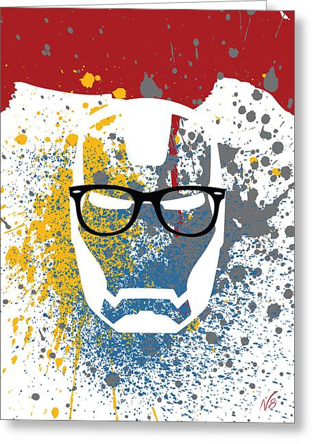 Iron-ray-ban-man Greeting Card
