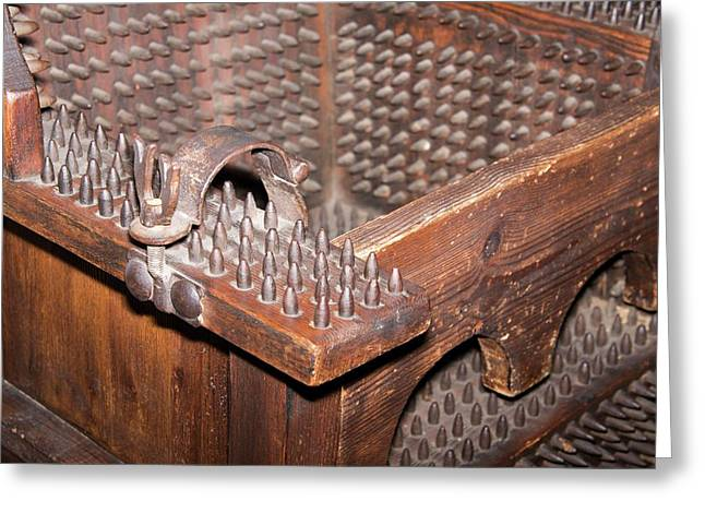 Iron Torture Chair Greeting Card