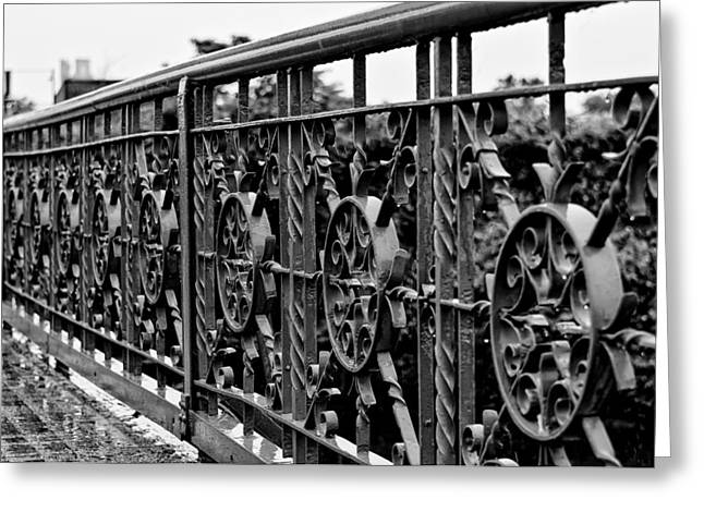 Greeting Card featuring the photograph Iron Work by Louis Dallara