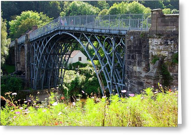 Ironbridge. Greeting Card by Mark Williamson/science Photo Library
