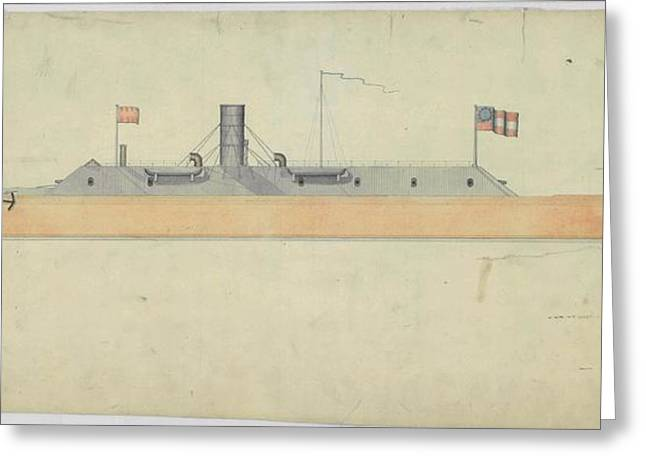 Ironclad Warship Css Virginia Greeting Card by Us National Archives