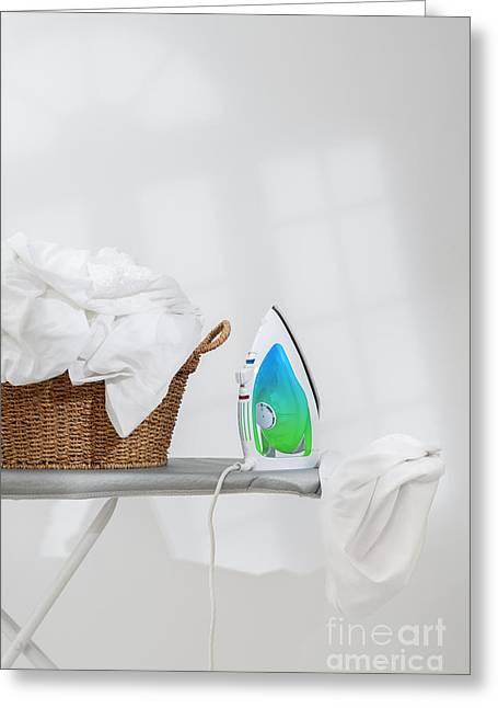 Ironing Greeting Card by Amanda Elwell