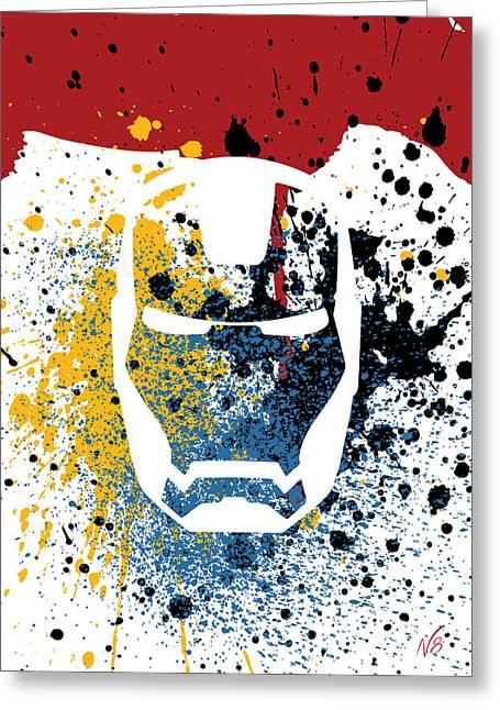 Ironman Goes Splat Greeting Card